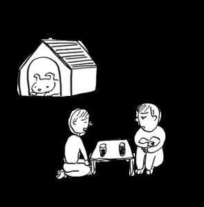日本の家って、犬小屋みたいですね