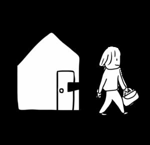 出かける/家を出る