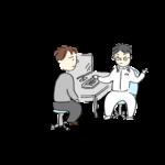 医者に症状を伝える