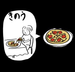 昨日食べたピザは...