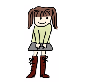 ブーツを履いている女の子