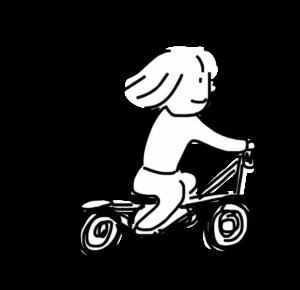 自転車に乗る