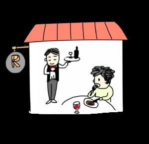 食べる(レストランで)