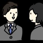 同僚と会話
