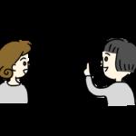 女性2人で会話