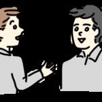 男性2人で会話