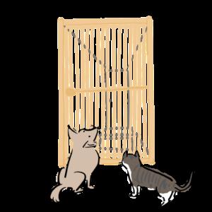 ペットが外に出ないように柵をつける