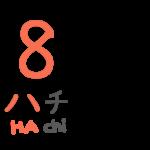 """「八」カタカナのハと似た形として+日本語の8の語頭は""""ha"""""""