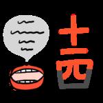 「読」漢字の形が変化したので成り立ちとは無関係な覚え方で、漢字の10、1、4を読む。