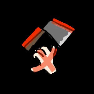 「父」斧を手に持つ人