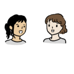 会話する2人の女性