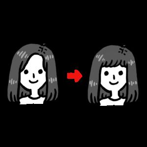前髪を作る