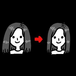 髪をすく・減らす・ボリュームを落とす
